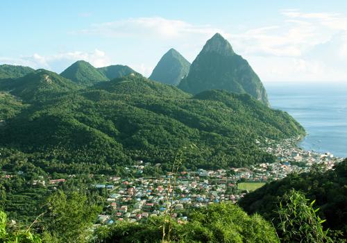 Napfényes szigetek: Saint Lucia