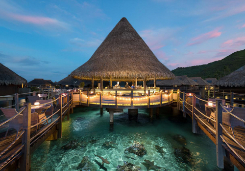 Szállások Francia Polinézián: Hilton Moorea Lagoon Resort & Spa 5*